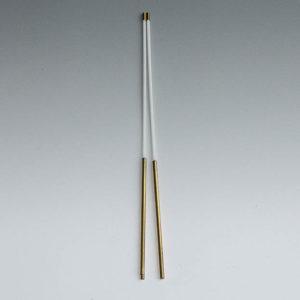 2004 Horizontalrute mit Messinggriff ca 28 cm - Wünschelruten-Shop